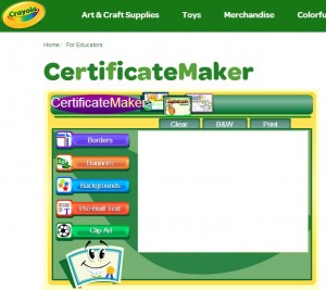 crayola certificate maker